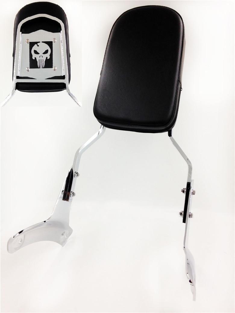 Skull Backrest Sissy Bar For 1997-2003 Honda Shadow Ace 750 Vt750 400 Vt400 HK MOTO