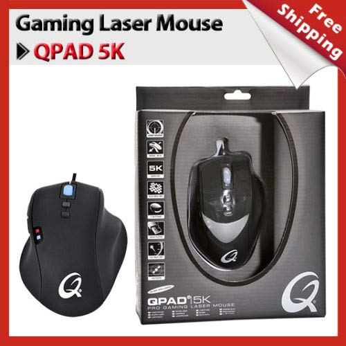 Amazon.com  QPAD 5K Pro Gaming Laser Mouse MICE 1000Hz 7 Buttons  Programmable 5040 CPI (buy one get one free)  Video Games da7057faa99b5