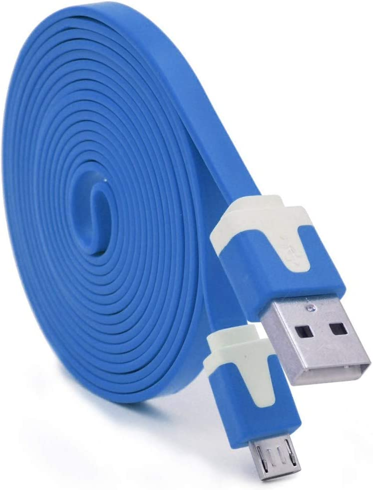 Shot Case – Cable Noodle 3 m Micro USB para Mando Playstation 4 PS4 3 metres Cargador USB Smartphone Conector (Color Azul): Amazon.es: Electrónica