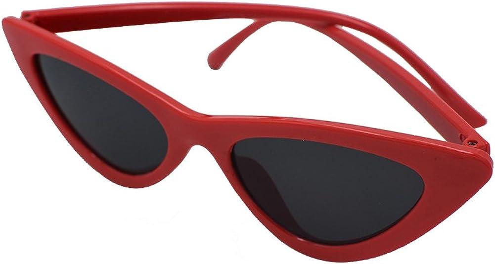 Inlefen Cat Eye Lunettes de soleil Vintage Mod Style lunettes Triangle cadre design Lunettes UV400