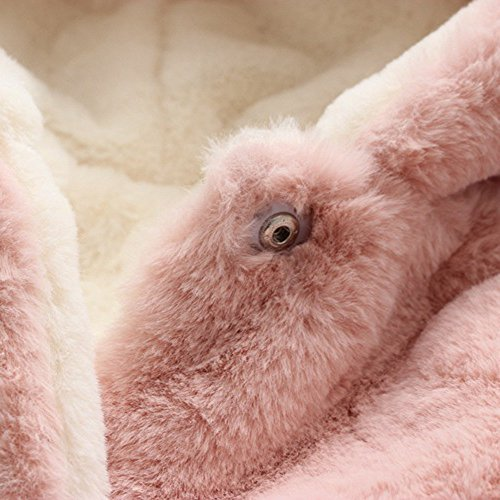 Infant Toddler Baby Girl Winter Warm Rabbit Ears Hoodies Fur Coat Thick Outerwear Snowsuit Jackets(Pink,13/110) by yijiamaoyiyouxia accessory (Image #8)