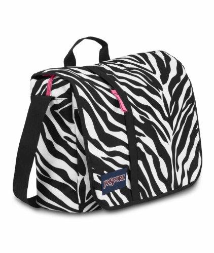 79dc79bbaca6 JanSport Market Street Messenger Bag, Black/White/Fluorescent ...