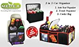 power advantage trunk organizer - 3 in 1 Car Organizer with Cooler. Perfect Companion for Road Trips, Picnics, School, and More! No More Messy Trunks and Back Seat (1 Pack of Red)
