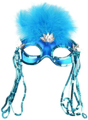 Mask It 71124 Turquoise Satin Half Mask