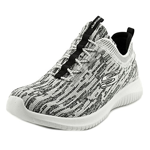 Skechers Ultra Flex-Bright Horizon, Entrenadores para Mujer White-Black