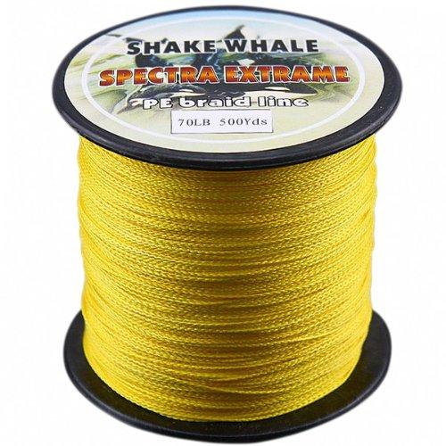 超特価激安 Shake Whale PE 100-percent 500ydsヤード PE Whale Good品質Briad編組釣りラインイエロー70lb 500ydsヤード B00EPQVXPQ, KOMO:2230bd07 --- a0267596.xsph.ru