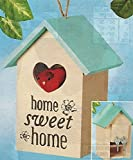Key Keepers Decorative Hand Painted Home Sweet Home Hide A Key Birdhouse, BEIGE, 8''