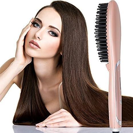 Cepillo alisador de cabello, de AsaVea. 4° generación construida con generador premium de aniones, más ligero y más pequeño.: Amazon.es: Belleza