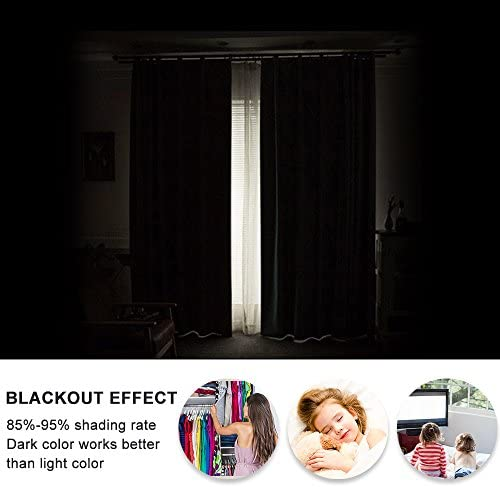 home, kitchen, home décor,  window treatments 9 picture PONY DANCE Blackout Window Curtains - Energy Saving Thermal promotion