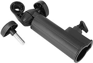 DEWIN Push Cart Umbrella Holder - Golf Push Cart Umbrella Holder Adjustable Universal Plastic Stand Push Pull Bike Cart Car (Black)