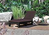 WestWood Rattan Day Chair Recliner Sun Bed Lounger Wicker Outdoor Garden Furniture Terrace Patio Brown SRL02