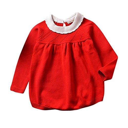 459fa0b59c53 Lisin Toddler Baby Girls Knitting Romper Jumpsuit Sweater Autumn Winter  Long Sleeve