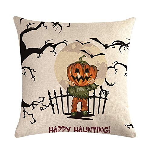 GTQC Halloween Series Linen Hug Pillowcase Cushion Set Lumbar Pillow 17 4545cm -