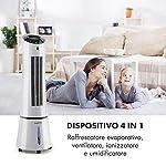 KLARSTEIN-Skyscraper-Ice-Condizionatore-Portatile-4in1-Raffrescatore-Ventilatore-Umidificatore-Depuratore-210-mh-Serbatoio-6-L-30-W-Ionizzatore-Timer-Telecomando-Grigio-Chiaro