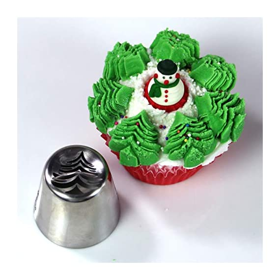 "Christmas Russian Icing Piping Cake/Cupcake Decorating Tips/Kit Set Party Supplies/Decorations 6 Package Include - 15 lovely designed icing piping cake decorating tips + 20 disposable pastry bags (2 sizes) + 1 tri-color couplers + 1 mini brush. 37 pcs total. Size - Each cake decorating nozzles kit measure 1.5""(W) x 1.61""(H). Material - Made of high quality stainless steel, will never rust, safe and sanitary."