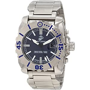 Wrist Armor Men's WA121 C2 Stainless Steel Analog Display Swiss Quartz Watch With Tritium Markers and Stainless Steel Bracelet