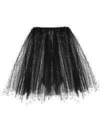 Pervobs Womens Cute Summer Pleated Elastic Waist Short Skirt Loose Dancing Skirt
