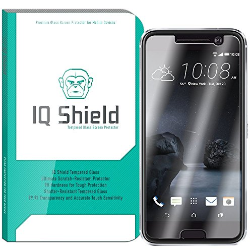 M10 Shield - HTC 10 Screen Protector, IQ Shield Tempered Ballistic Glass Screen Protector for HTC 10 (One 10,M10) 99.9% Transparent HD and Anti-Bubble Shield - with