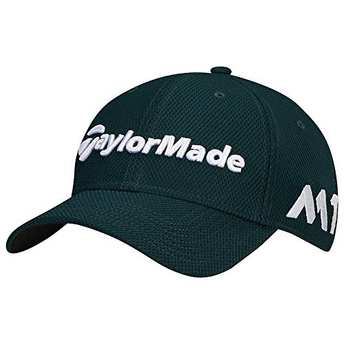 TaylorMade Golf 2017 tour new era 39thirty white hat green m/l ()