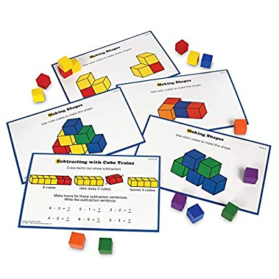 Learning Resources Creative Color Cubes, Fine Motor Skills, Counting Skills, Basic Math, 100 Piece, Ages 3+: Office Products