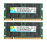 5300s - DUOMEIQI 4GB Kit(2 X 2GB) DDR2 RAM 2RX8 PC2-5300S 667MHz 200pin 1.8v CL5 SODIMM Notebook Laptop Memory Modules with