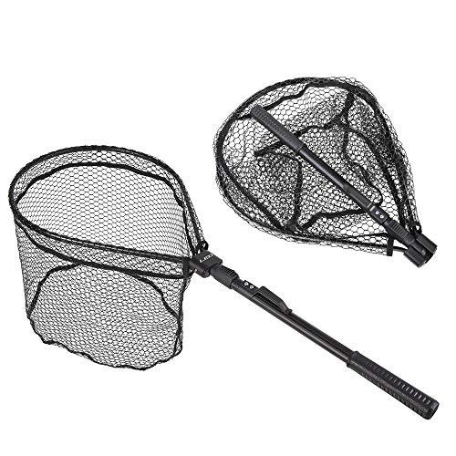 Leo Fishing Net Fly Fishing Fish Trap 81cm Foldable Landing Net Aluminum Handle Cast Net Fishing Tackle Equipment Filet de Peche