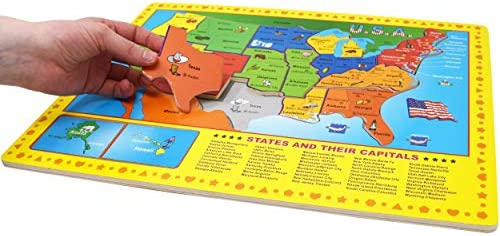 Finders | USA Map Wooden Puzzle - 17 Large Jigsaw Puzzle ...