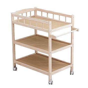 Amazon.com: Mueble cambiador de madera ajustable para bebé ...