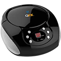 QFX J-211BT Bluetooth Boombox CD Player and FM Radio