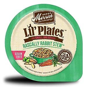 Merrick Lil' Plates Grain Free Small Breed Wet Dog Food, 3.5 Oz, 12 Count Rascally Rabbit 94