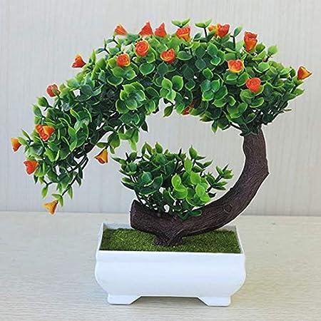 FuTaiKang Artificiale Bonsai Pianta in Vaso Verde Piante ...
