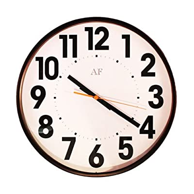 "WT 15 Inch Wall Clock - Ideal for those with poor eyesight Jumbo 2"" high numbers for easy viewing Crisp white face - wall-clocks, living-room-decor, living-room - 51dXH51Ha6L. SS400  -"
