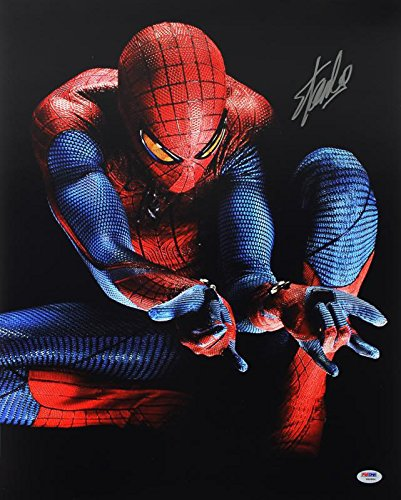 Stan Lee Signed Spider-Man 16X20 Photo Marvel Comics Autographed PSA/DNA 4