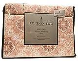 London Fog Blush Coral Multi Kaleidoscope Floral Pattern Queen Sheet Set, 6 pcs