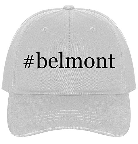 The Town Butler #Belmont - A Nice Comfortable Adjustable Hashtag Dad Hat Cap, White