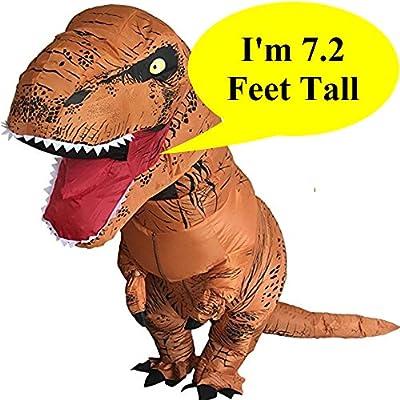 Inflatable Dinosaur Trex Costume Adult Size -Blow Up T-Rex Dino Large T Rex Suit
