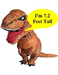 Inflatable Dinosaur Trex Costume Adult Size-Blow Up T-Rex Dino Suit