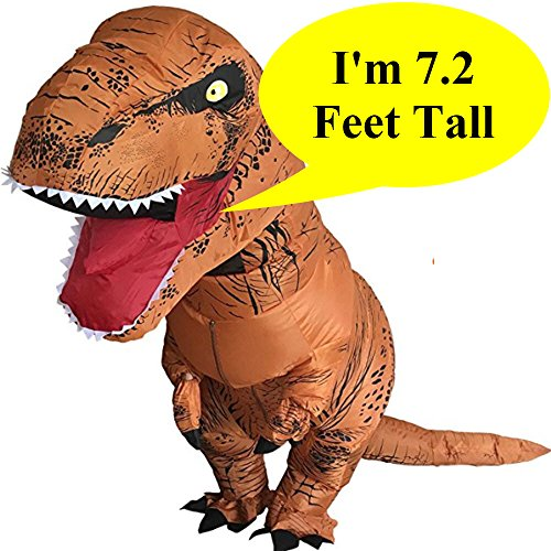 Inflatable Dinosaur Trex Costume Adult Size-Blow Up T-Rex Dino Suit -