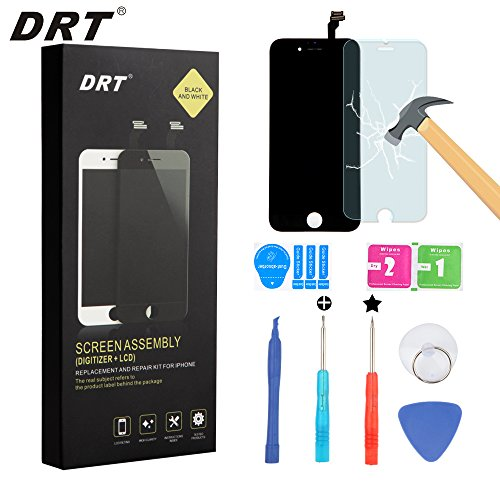 DRT OEM iPhone 6 Screen Replacement LCD Display Touch Screen Digitizer Frame Assembly Full Set with Free Tools and DRT Professional Glass Screen Protector for iPhone 6 (4.7 inches)