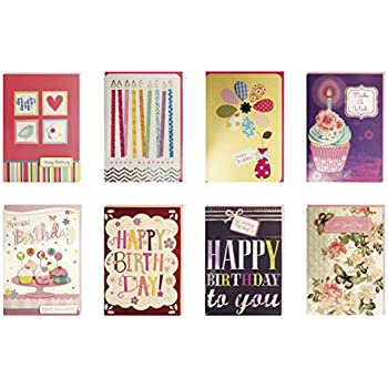 Amazon birthday cards assorted handmade embellished cards box birthday cards assorted handmade embellished cards box set bulk assortment for her birthday 8 piece m4hsunfo Images