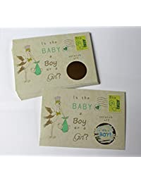 Stork Gender Reveal Scratch off Cards, Reveal The Sex of your Baby, Boy or Girl,Pink or Blue, Baby Shower Scratch-off gender announcement, Mailable Postcards Qty 25 My Scratch Offs (BLUE~ Boy) BOBEBE Online Baby Store From New York to Miami and Los Angeles