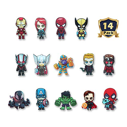 HXDZFX The Avengers Refrigerator Magnets-Marvel Heroes Fridge Magnets- Set of 14 Marvel Characters-Final Battle Perfect Decorative Magnet