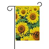 BETTKEN Sunflower Floral Pattern Garden Flag 28×40 inches Double Sided Welcome Home House Polyester Banner Outdoor Patio Yard Garden Decorative