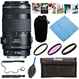 Canon EF 70-300mm f/4-5.6 IS USM Telephoto Zoom Lens + Deluxe Accessory Bundle