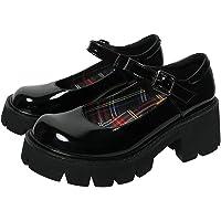 Vrouwen Chunky Platform Mary Jane schoenen Retro gesp ronde neus Flats Ondiepe mond Japanse Sweet Lolita Princess…