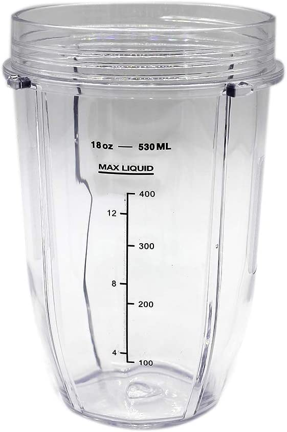 Anbige Replacement Parts 18oz Cup Jar, Fits Nutri Ninja Blenders BL490 BL2012 (1 18oz cup)