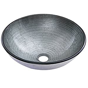 VIGO Simply Silver Glass Vessel Bathroom Sink - - Amazon.com
