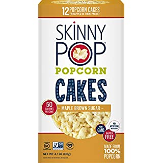 SkinnyPop Maple Brown Sugar Popcorn Cakes, Gluten Free Popcorn, Non-GMO, No Artificial Ingredients, A Delicious Source of Fiber, 4.7 Ounce