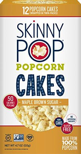 (SKINNYPOP Maple Brown Sugar Popcorn Cakes, Gluten Free Popcorn, Non-GMO, No Artificial Ingredients, A Delicious Source of Fiber, 4.7)