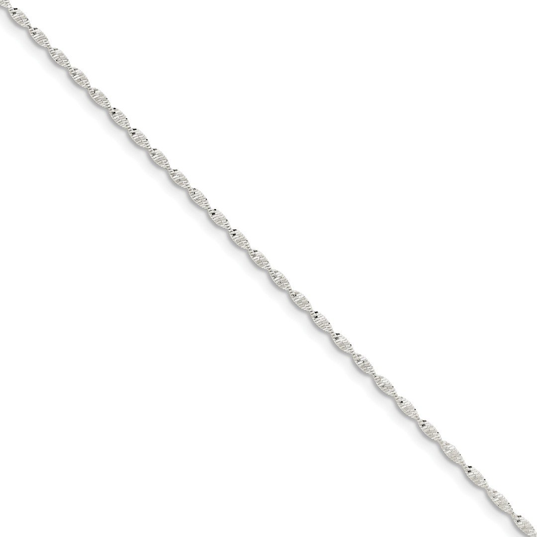 ICE CARATS 925 Sterling Silver 1.65mm Twisted Link Herringbone Bracelet Chain 7 Inch Fine Jewelry Ideal Gifts For Women Gift Set From Heart